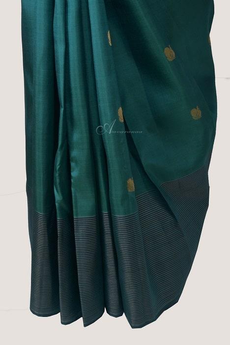 Cobalt blue kanchi silk saree-14237