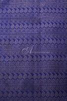 Royal blue kanchi silk saree half rising mango design-14254