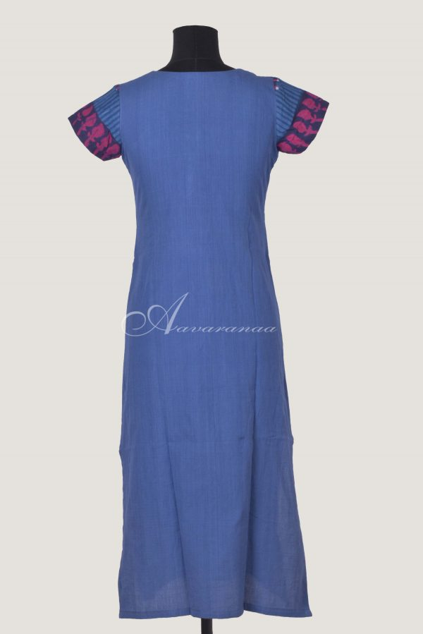Blue cross patch kurta-14464