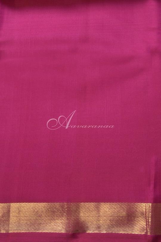 Voilet kancheepuram silk with pink zari border-14722
