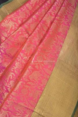 Neon Pink kanchipuram silk saree-14746