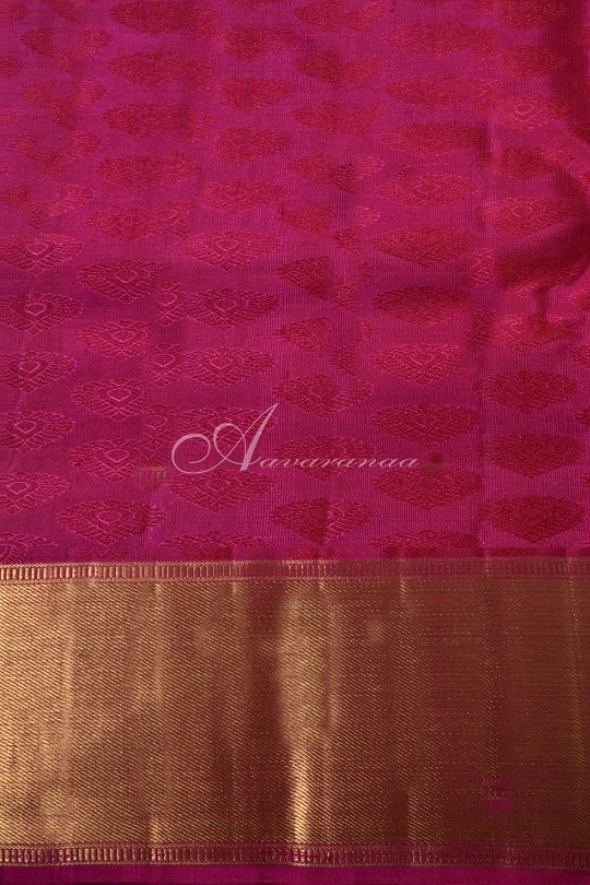Mandulir green and pink kancheepuram silk saree-14766