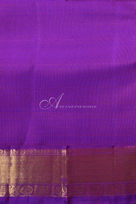 Peach raising style kanchipuram silk saree -14792