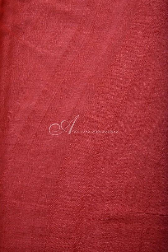 Red and orange geometrical printed saree-14916