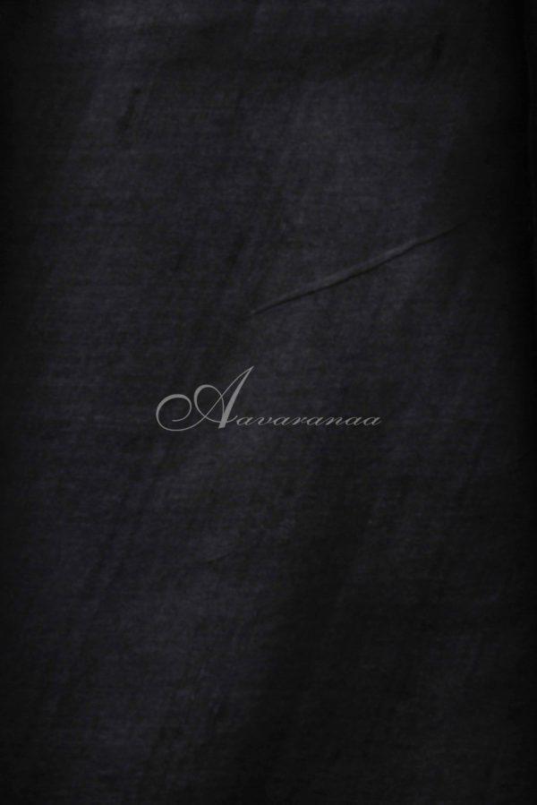 Black and purple tussar saree-14920