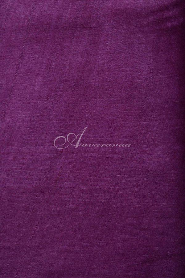 Pink and beige block printed tussar saree-14932