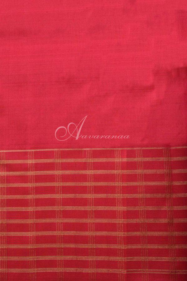 Red brocade kanchi silk saree -15826