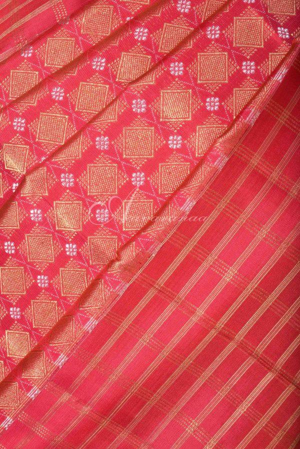 Red brocade kanchi silk saree -15828