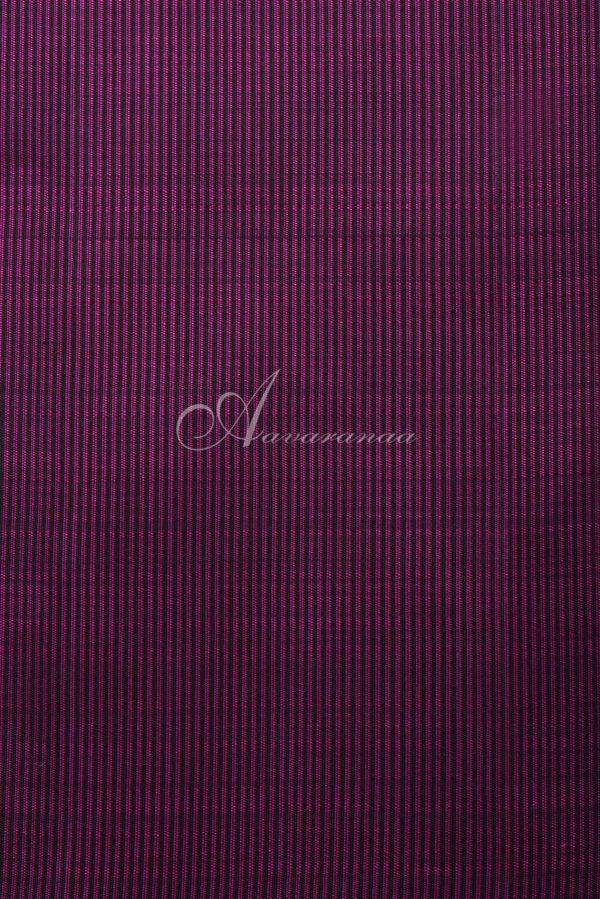 Black and pink stripes kanchi silk saree-15857