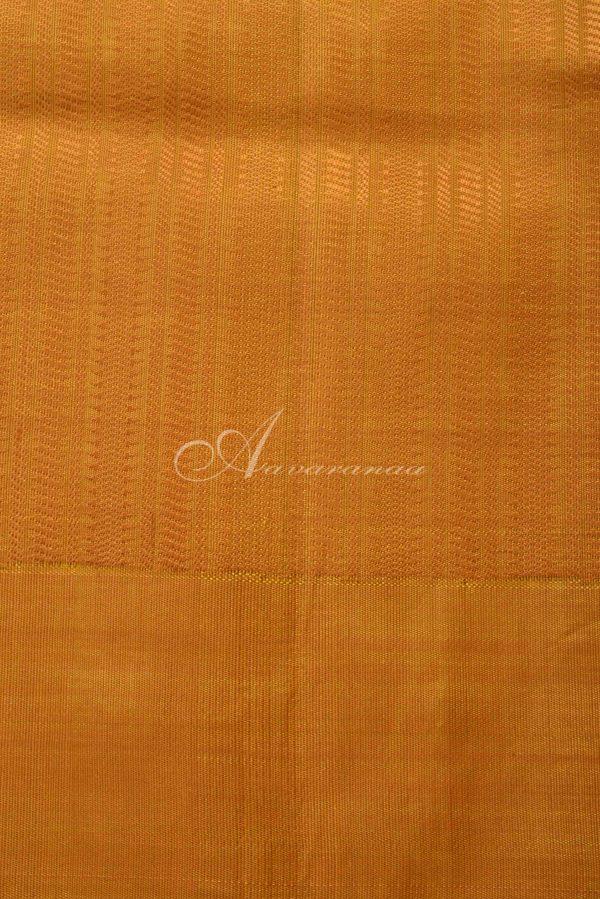 Blue and mustard silk saree-15041