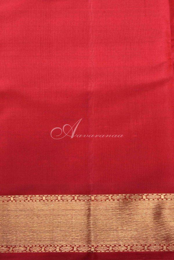 Red Kanchipuram silk saree-15060