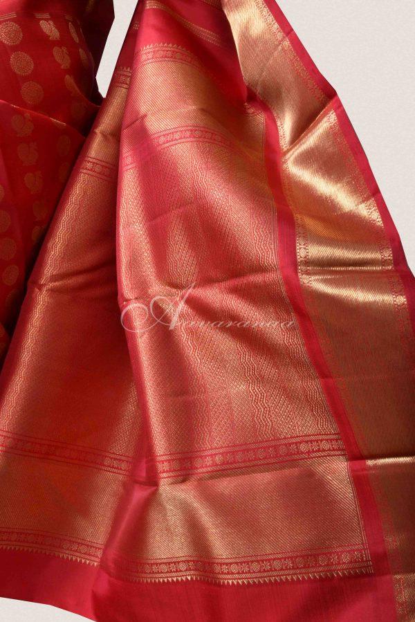Red Kanchipuram silk saree-15062