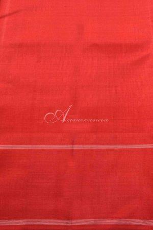 Grey and red kanchipuram silk saree-15304