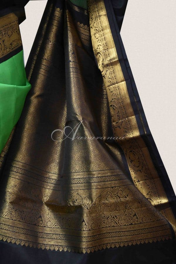 Pista green kanchipuram silk saree-15099