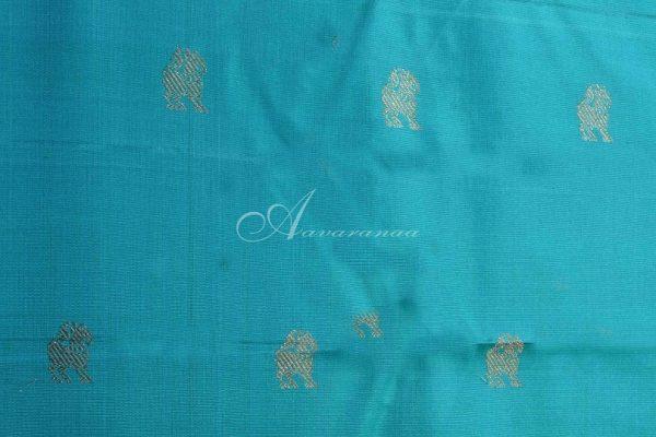Ms blue and turquoise blue shoulder design saree-15138