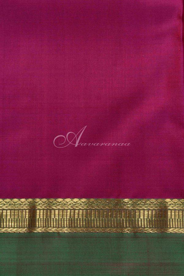 Yellow kanchi silk and multicoloured border saree-15153