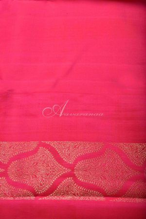 Green and pink 1/2 and 1/2 kanchipuram silk saree-15415