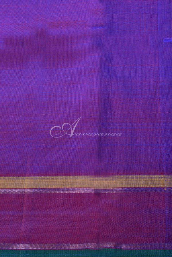 Ms blue and purple kanchipuram silk saree-15404