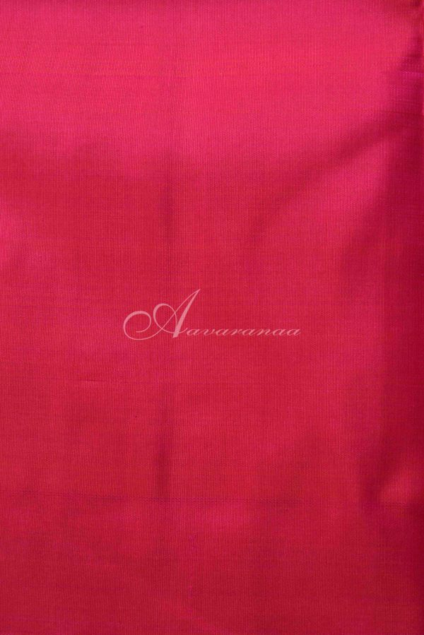 Royal blue pink half half kanchi silk saree-15495