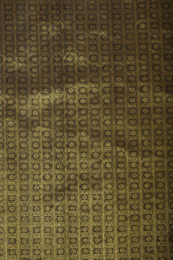 Black rudraksham kanchi silk blouse fabric-0