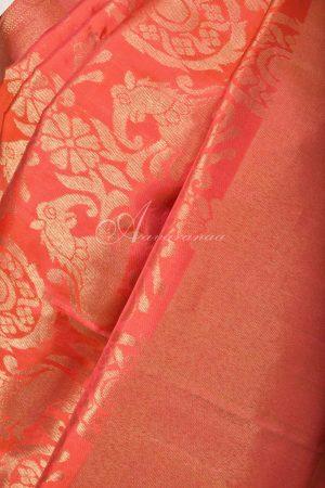 Bright Orange kancheepuram silk saree-16325