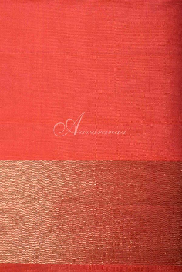 Bright Orange kancheepuram silk saree-16324