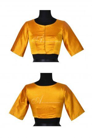 Yellow benarasi blouse-0