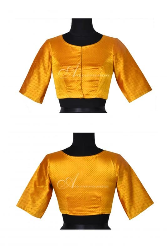 Yellow benarasi blouse-0