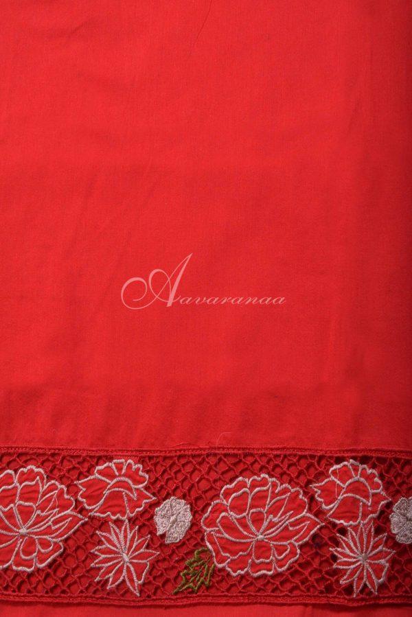 Beige tussar saree with cutwork border-16499