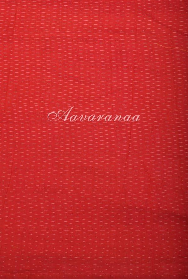 Pink checks chiffon saree with kanchi cotton border-16948