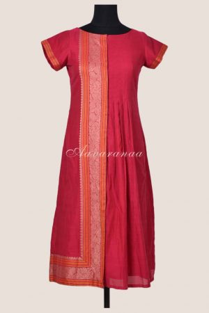 Pink kanchi cotton kurta-0