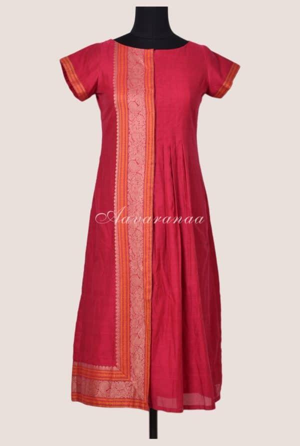 Pink kanchi cotton kurta-0