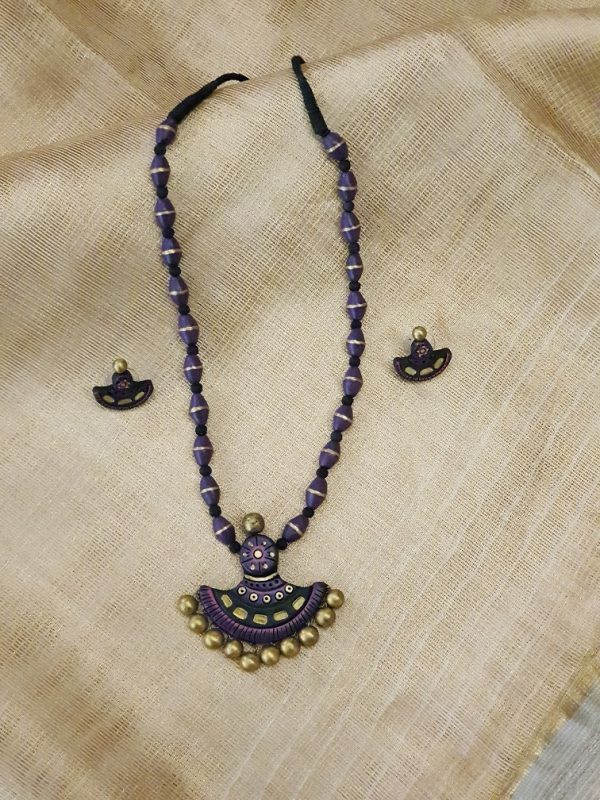 Purple with gold terracotta set-0