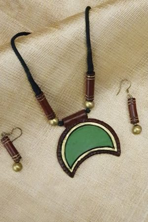 Brown with green terracotta set-0