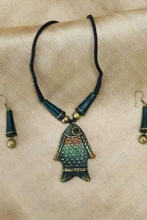 Green fish terracotta set-0