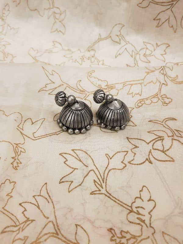 Silver terracotta earring-0