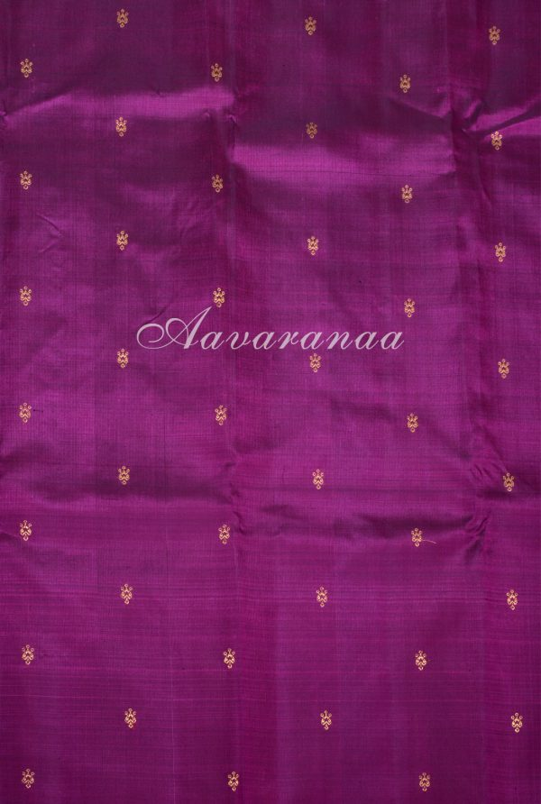 Bottle green and pink partly pallu kanchi silk saree-17162
