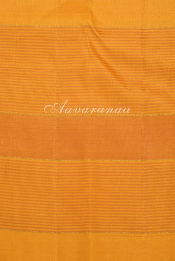 Grey yellow half half kanchipuram silk saree-17342