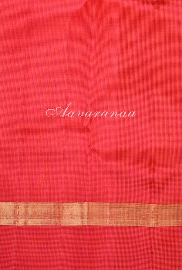 Blue pink green kanchi silk saree-17352