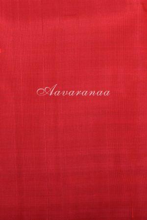 Black and white red kanchipuram silk saree-17525