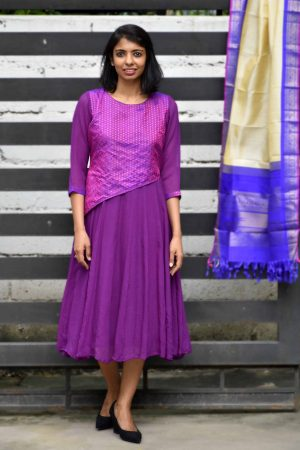 Violet chiffon dress-0