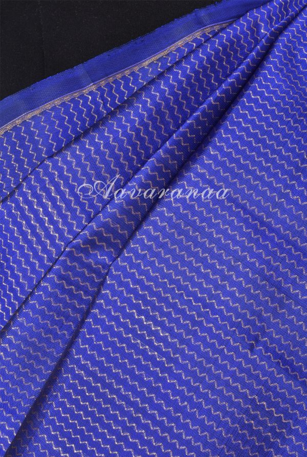 Royal blue orange half half kanchi silk saree -17971