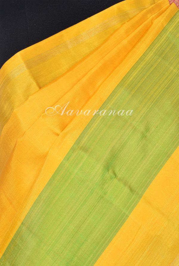 Yellow and pink kanchi silk saree-18208