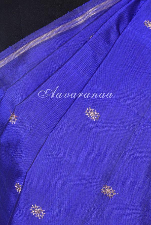 Blue and pink half n half kanchi silk saree-18226