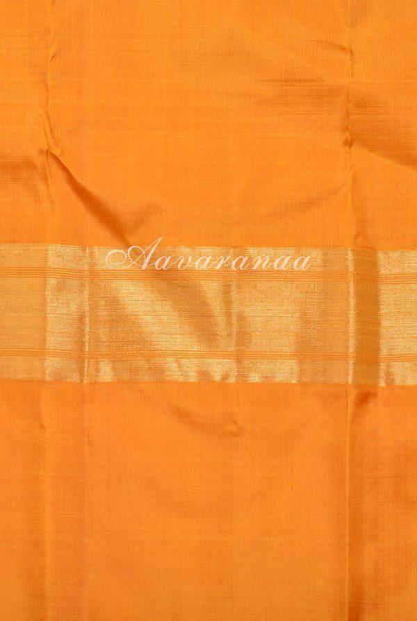Grey and yellow kancheepuram silk saree-18257