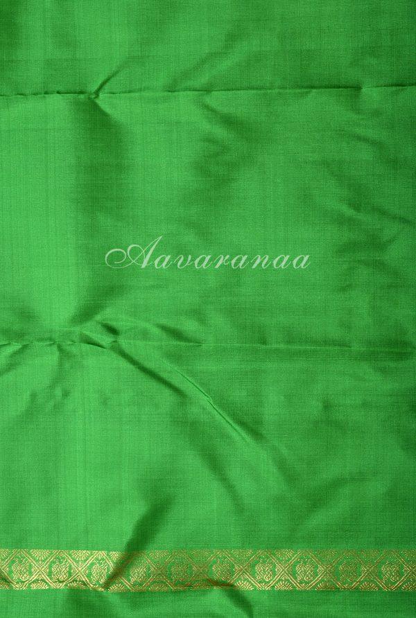 Green and yellow half and half kancheepuram silk saree-17141