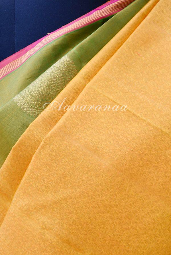 Green mustard kancheepuram silk saree-18423