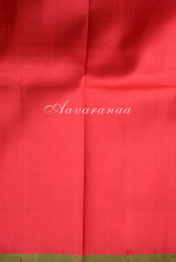 Blue vanasingaram kancheepuram silk saree with red pallu -18483