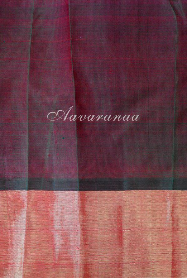 Bright pink vanasingaram kancheepuram silk saree with gold border-18700