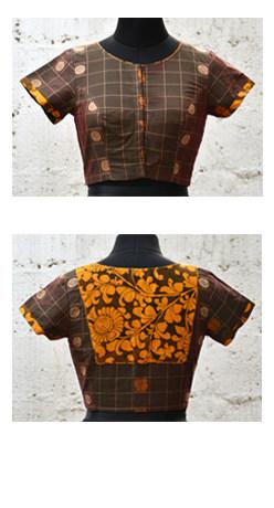 Mehandi green kanchi cotton blouse-0